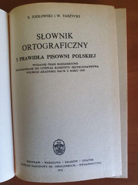Prl Słownik ortograficzny Jodłowski Taszycki wyd. OSSOLINEUM