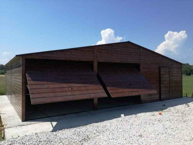 Garaże drewnopodobne, imitacja drewna, orzech, złoty dąb, garaż, wiata