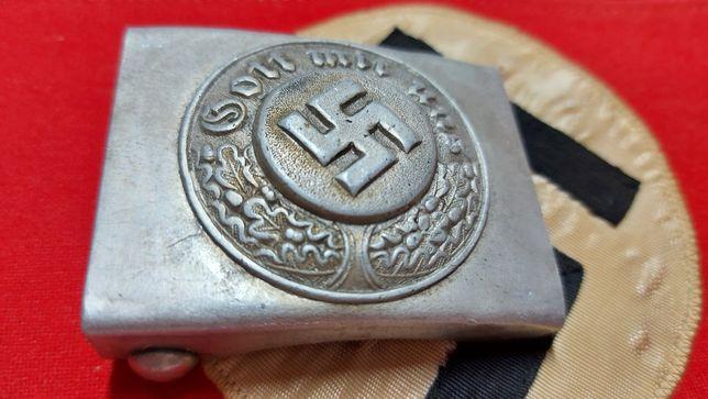 Koppelschloss mit herst. Gott mit uns Alemanha nazi-suástica