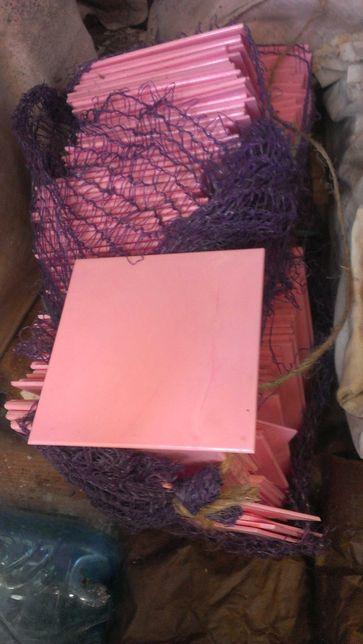 Плитка пластиковая облицовочная розовая