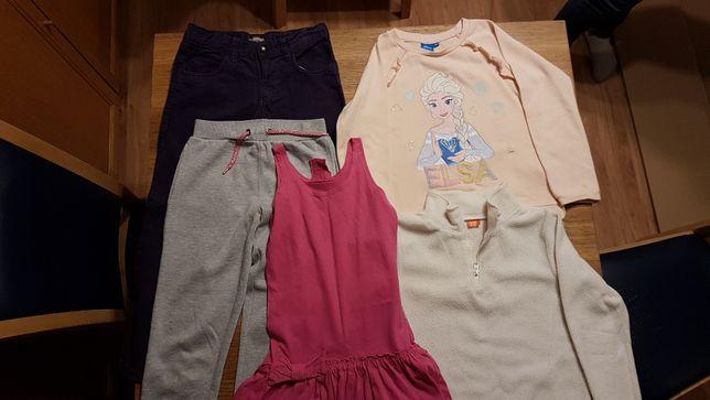 Zestaw ubrań dla dziewczynki 7 - 8 lat