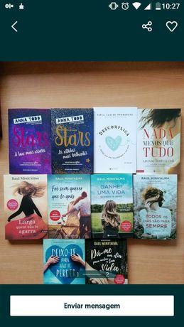 Dezenas Livros de romance, doçaria etc