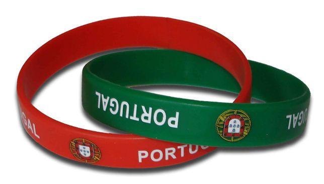 Pulseira Portugal em silicone