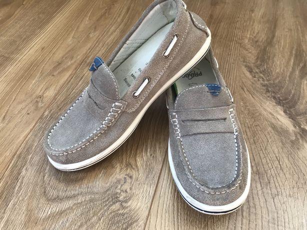 Туфли мокасины слипоны замшевые primigi