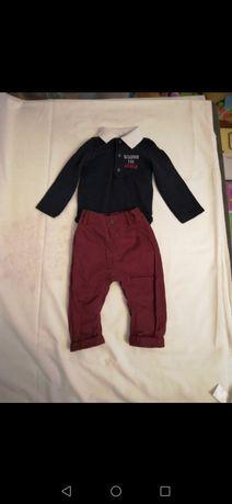 Zestaw, body koszulowe,spodnie Jens