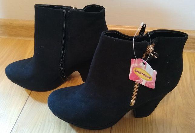 Buty botki czarne 38
