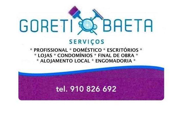 Goreti Baeta , Serviços de Limpezas.