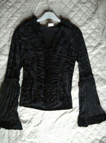 Bluzka damska koszula damska wizytowa elegancka czarna Paris