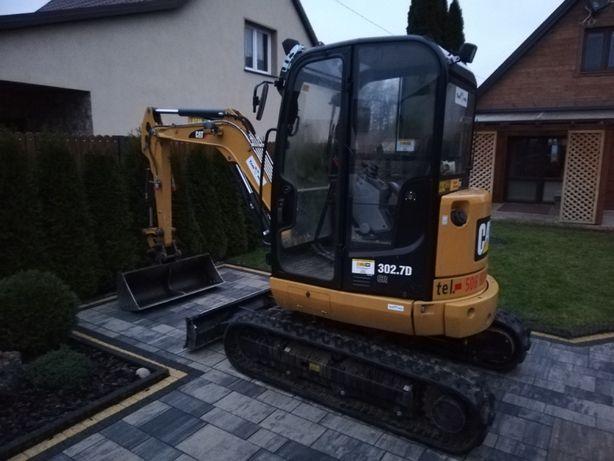 Usługi Minikoparką Miniladowarką Wywrotką niwelacja terenu, prace ziem
