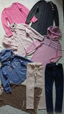 суперский комплект вещей 6-7л (р.116-122): туники, джинсы H&M, кофты