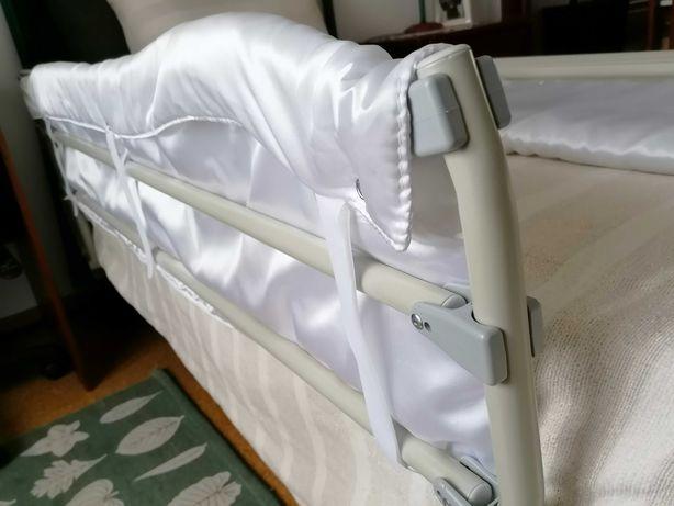 Proteção de cama - Par de Guardas metálicas em aço macio, côr cinzento