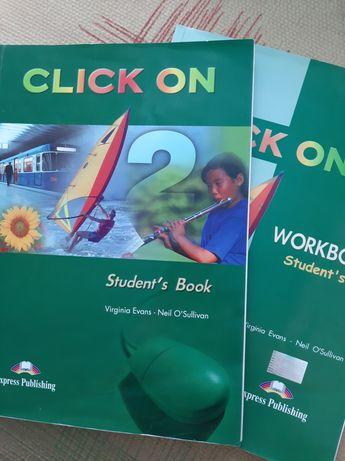 Учебники по английскому языку CLICK ON 2(SB+WB)