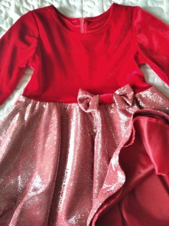 Piękna czerwona sukienka r. 92
