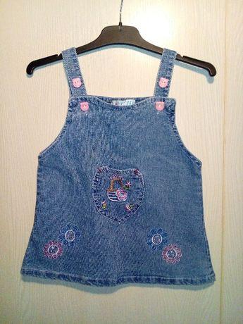 Śliczna sukienka jeansowa Y.JIA 86 cm
