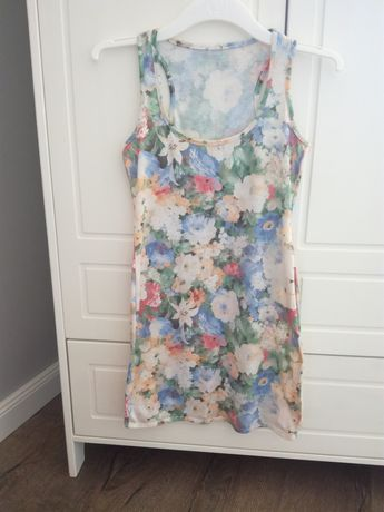Sukienka pastelowa w Kwiaty floral 34/36
