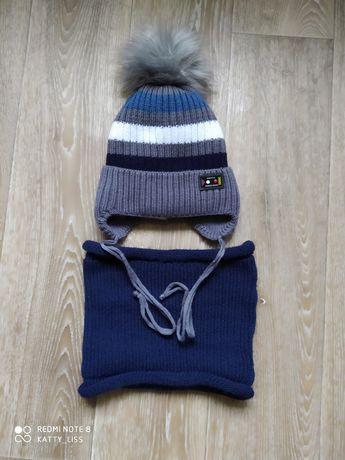 Зимняя шапка и снуд