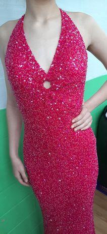 Платье Scala биссер бисер  выпускной подиум нарядное