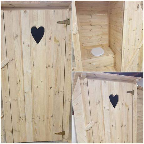 Toaleta drewniana z serduszkiem wc swawojka kibelek