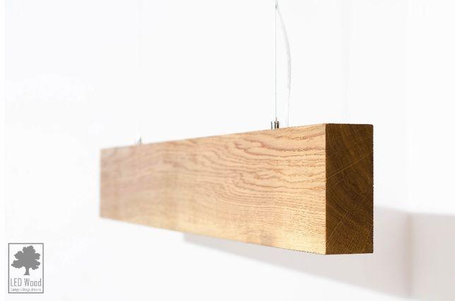Lampa drewniana - Dębowa belka 90 cm LED