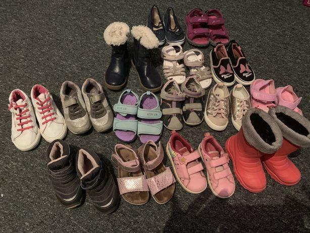 Zestaw butów dla dziewczynki r. 25 , 26 , 27 , 28