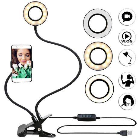 Держатель для телефона с LED подсветкой для фото/видео сьемки