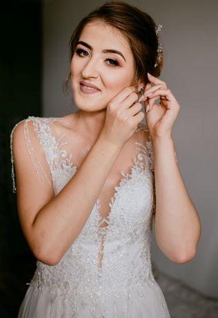 Suknia ślubna 38 40 frędzle 178 180