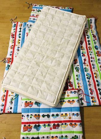 Бортики в кроватку и матрас. Кроватка в подарок!