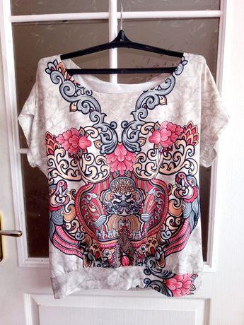 Туника женская летняя футболка кофта с коротким рукавом одежда