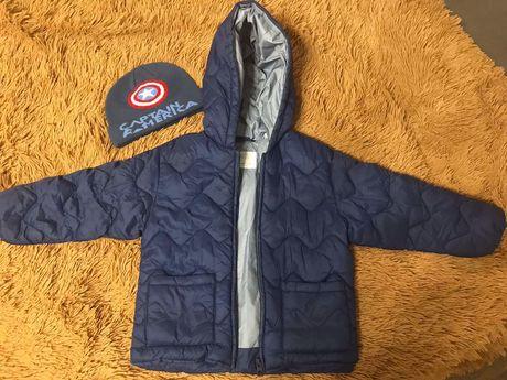 Продам куртку на мальчика и шапку 4 года  от бренда ZARA