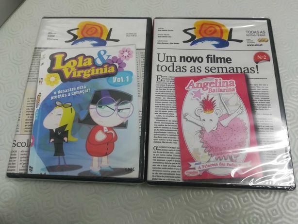 DVD criança novo