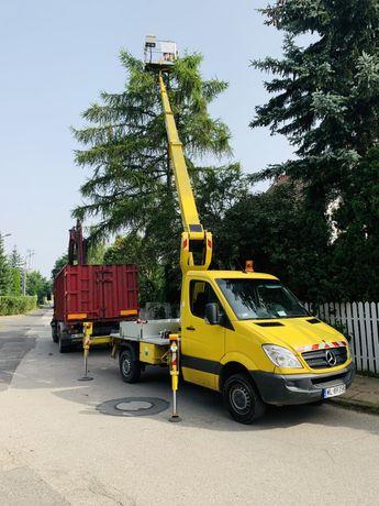 Podnosnik koszowy zwyzka ruthmann 20m 22m 27m wycinka drzew reklamy