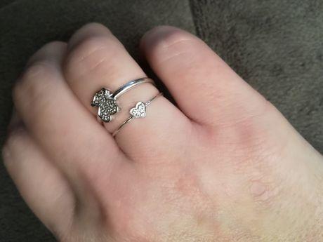 Tous pierścionek zloto 750 i diamenty