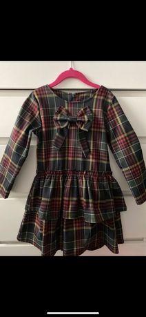 Sukienka w kratkę r. 122