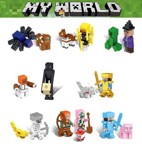 Bonecos minifiguras Minecraft nº24- compativel com Lego