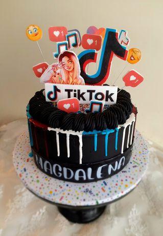 Tort Tik-Tok 15 osób