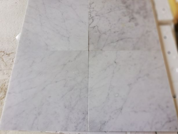Płytki marmurowe Bianco di Carrara 40x40x1.3