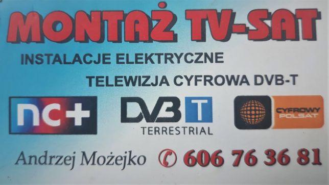 Montaż i serwis anten satelitarnych Polsat NC+ i naziemnych DVB-T, LTE