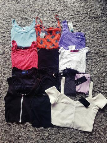 Zestaw paka ubrań topów crop topów koszulek M