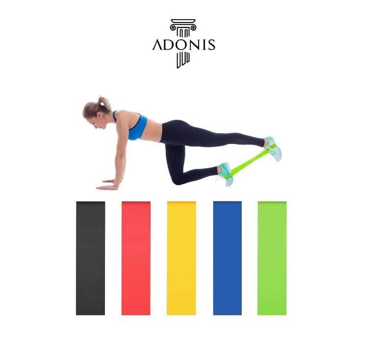 Bandas Resistência Fitness Yoga Pilates Elásticos Musculação