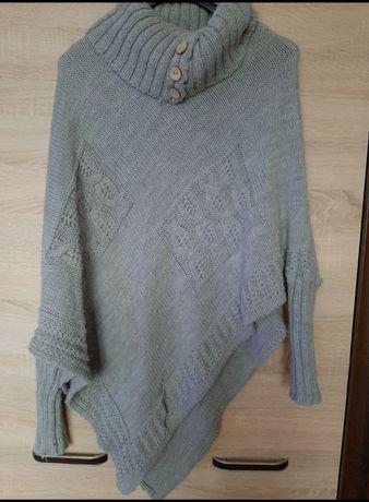 Sweterkowe poncho