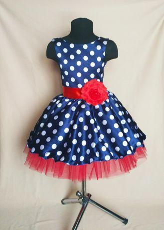 Детское ретро платье. Стиляги. Платье в горох. Платья на выпускной
