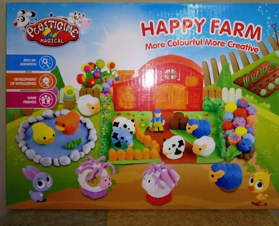 Набор для творчества Пластилин для детей Happy Farm