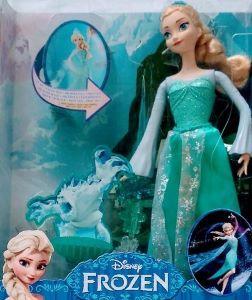 Kraina Lodu, Mroźna Elsa z magicznym światełkiem Opakowanie!