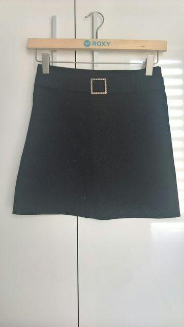 Spódniczka czarna z brokatem