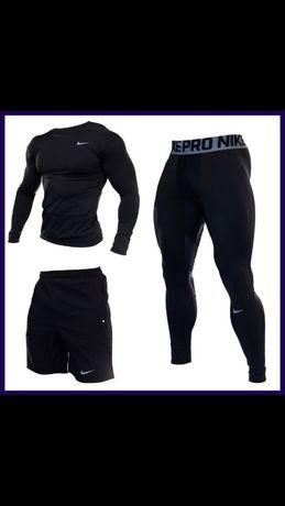 Акция!Мужской компрессионный комплект,термо одежда,Рашгард,Nike,reebok