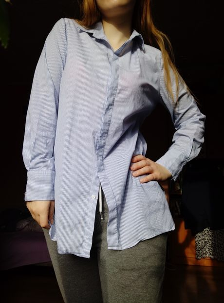 Koszula Zara woman s paski oversize