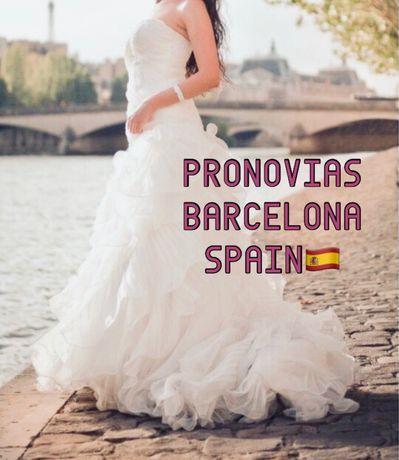 Испания. PRONOVIAS. До 15 Октября свадебное платье айвори весільн сукн