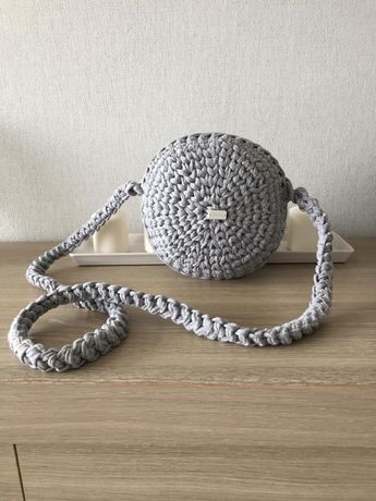 Nowa torebka ze sznurka hand made okrągła
