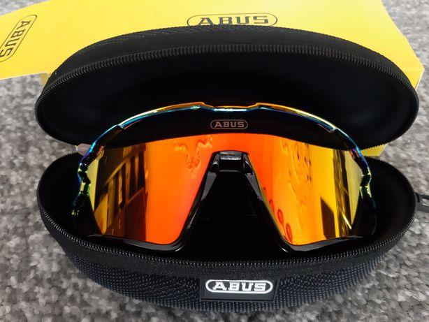 Okulary Lustrzane UV400 Polaryzacja Rowerowe Sportowe Do Biegania ABUS
