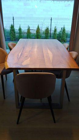 Stół drewniany blat, jadalnia, kuchnia, loft